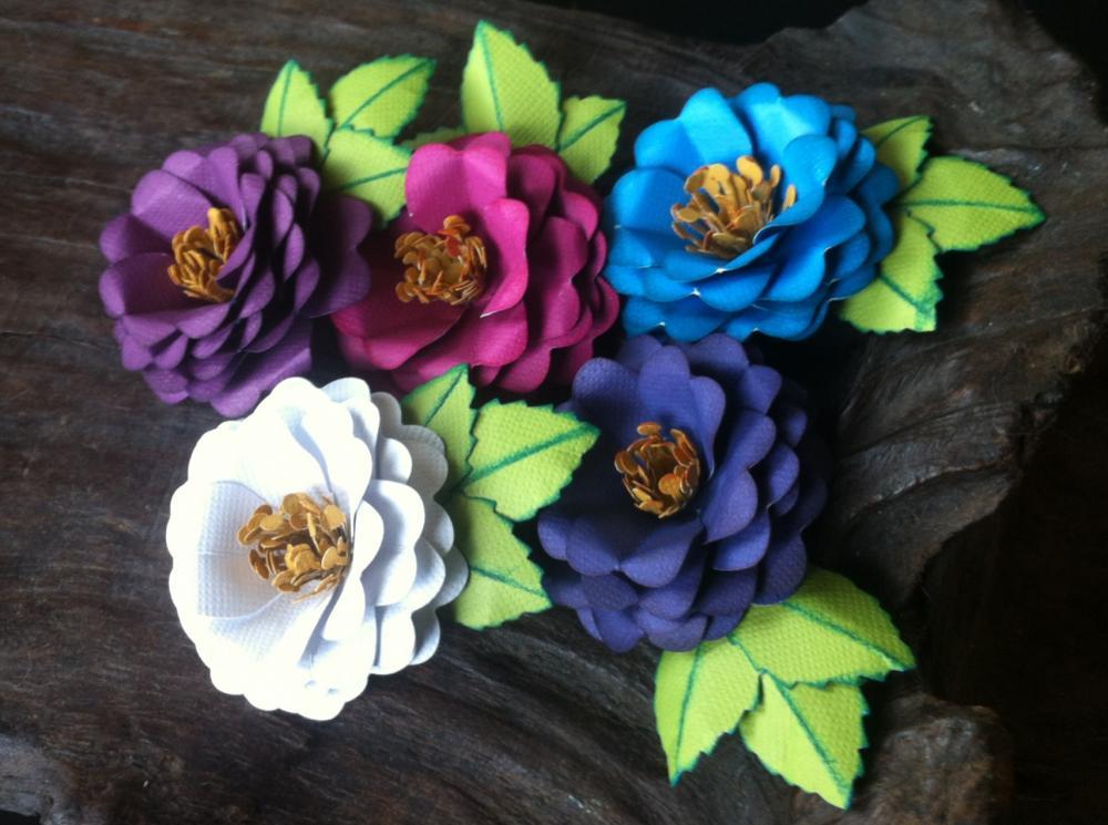 Handmade Paper Flowers - A Midsummer Night Collection