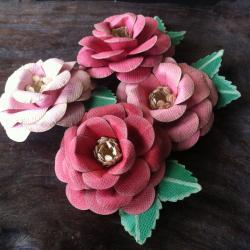 Handmade Paper Roses - Bubblegum Dreams Collection